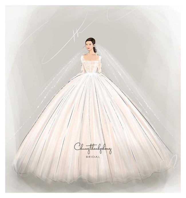 2 mẫu váy cưới chính thức của Đông Nhi vừa được hé lộ: Thiết kế lộng lẫy đẹp tuyệt trần lấy cảm hứng từ công nương Hoàng gia-1