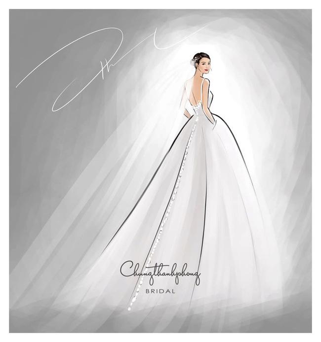 2 mẫu váy cưới chính thức của Đông Nhi vừa được hé lộ: Thiết kế lộng lẫy đẹp tuyệt trần lấy cảm hứng từ công nương Hoàng gia-2