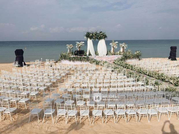 Không gian lễ cưới Đông Nhi - Ông Cao Thắng đã hoàn thiện, đẹp lung linh như cổ tích giữa biển đảo Phú Quốc-1