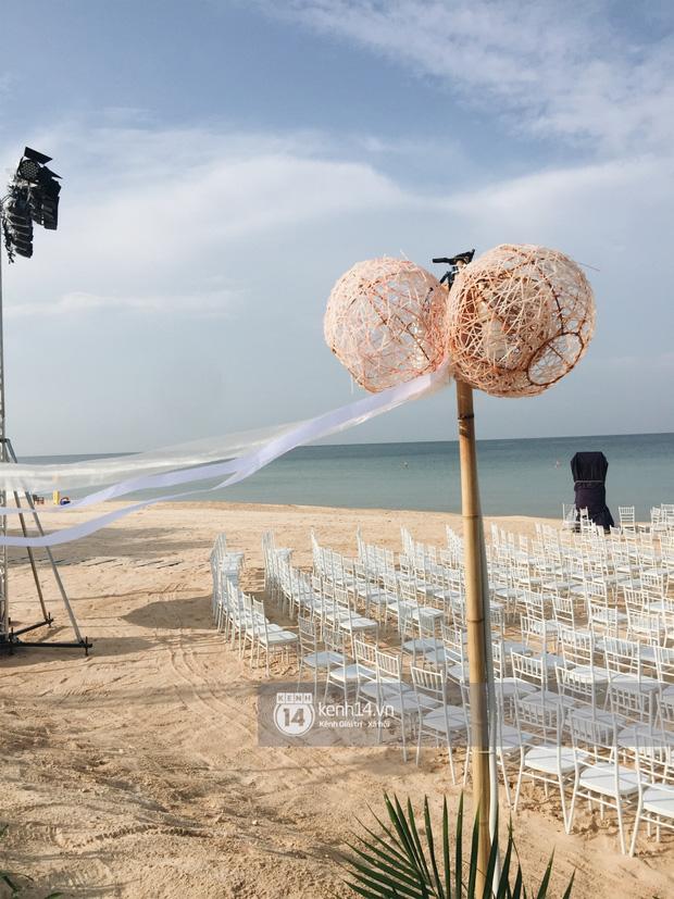 Không gian lễ cưới Đông Nhi - Ông Cao Thắng đã hoàn thiện, đẹp lung linh như cổ tích giữa biển đảo Phú Quốc-2