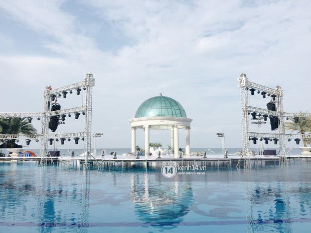 Không gian lễ cưới Đông Nhi - Ông Cao Thắng đã hoàn thiện, đẹp lung linh như cổ tích giữa biển đảo Phú Quốc-3