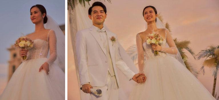 3 váy cưới thay như chạy sô của Đông Nhi: Từ sexy tới kiêu sa, rồi lại sang chảnh như công nương Hoàng gia-4