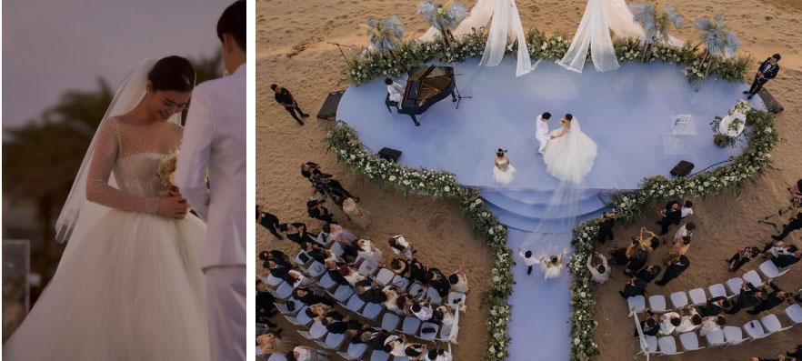 3 váy cưới thay như chạy sô của Đông Nhi: Từ sexy tới kiêu sa, rồi lại sang chảnh như công nương Hoàng gia-5