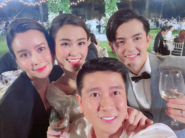 Sau scandal ly hôn, Lưu Hương Giang - Hồ Hoài Anh lần đầu xuất hiện cùng nhau tại đám cưới Đông Nhi - Ông Cao Thắng-1