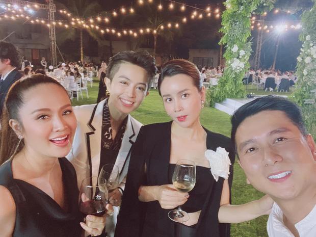 Sau scandal ly hôn, Lưu Hương Giang - Hồ Hoài Anh lần đầu xuất hiện cùng nhau tại đám cưới Đông Nhi - Ông Cao Thắng-2