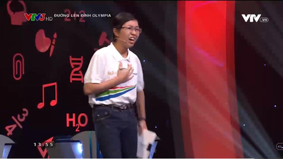 Sau khi phá tan kỷ lục 20 năm Olympia, nữ sinh Ninh Bình tiếp tục vượt mặt 3 nam sinh, giành lấy vòng nguyệt quế-2