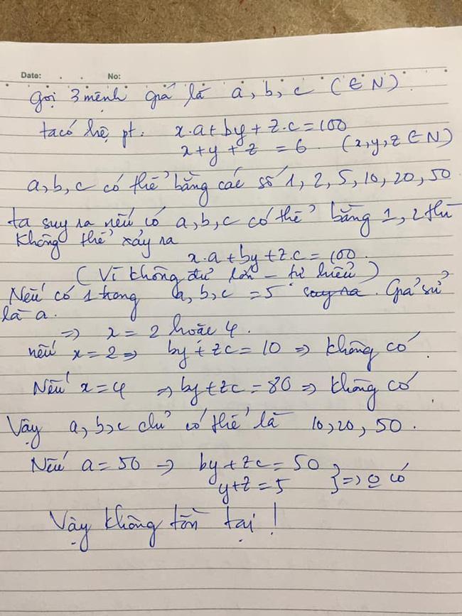 Bài toán Chọn 6 tờ tiền với 3 mệnh giá khác nhau sao cho tổng bằng 100k khiến dân mạng nát óc, nào ngờ đáp án quá đơn giản-2