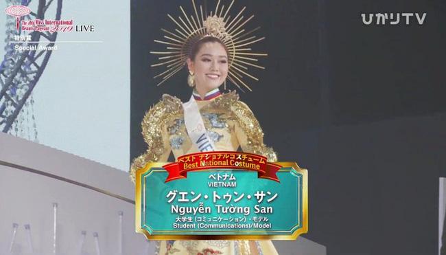Người đẹp Thái Lan đăng quang Hoa hậu Quốc tế 2019, Tường San dừng chân top 8-10