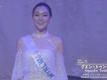 Chung kết Miss International 2019: Tường San thẳng tiến Top 10, bước vào phần thi ứng xử