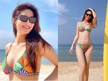 Diễm My 9x 'thiêu đốt' bãi biển Phú Quốc với bikini hai mảnh rực rỡ