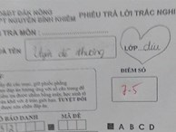 Nữ sinh 'thả thính' thầy giáo trong bài kiểm tra, tưởng gây ấn tượng được với thầy ai ngờ bị trừ luôn 5 điểm