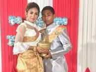 Cư dân mạng bàn tán đám cưới của cô dâu 21 với chú rể 14: 'Nó là trẻ con mà'