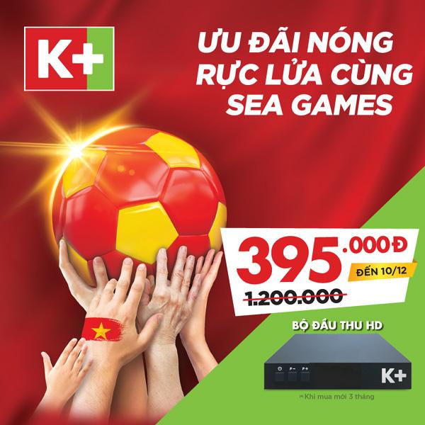 K+ phát sóng toàn bộ trận đấu của tuyển Việt Nam ở SEA Games 2019-3