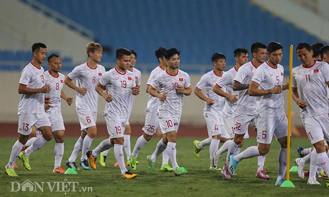 Đội mưa tập luyện trước trận gặp UAE: Công Phượng, Văn Hậu bị soi-1
