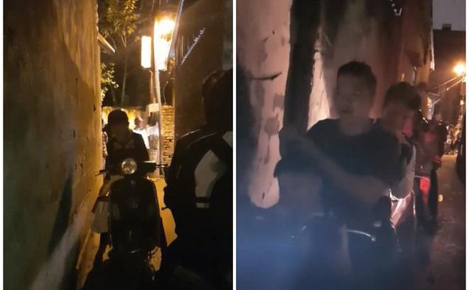 Người phụ nữ đối đầu, quyết không nhường đường cho cả đoàn gần 20 xe máy trong ngõ hẹp-1