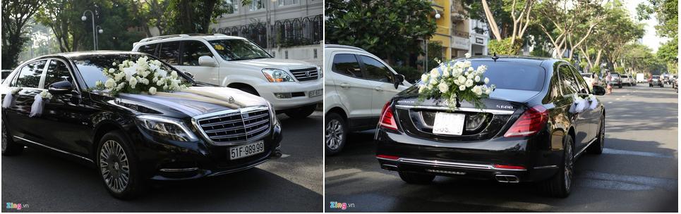 Dàn xe Rolls-Royce, Maybach xuất hiện trong lễ cưới Bảo Thy-6