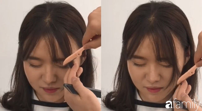 Để không hết hồn khi cắt tóc mái, hãy ghim ngay 3 cách cực hay này-2