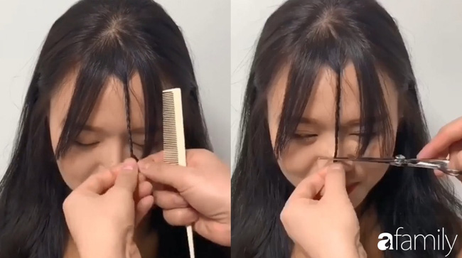 Để không hết hồn khi cắt tóc mái, hãy ghim ngay 3 cách cực hay này-5