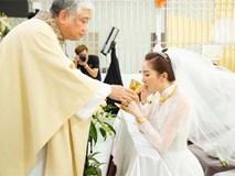 Khoảnh khắc thiêng liêng trong lễ cưới Bảo Thy