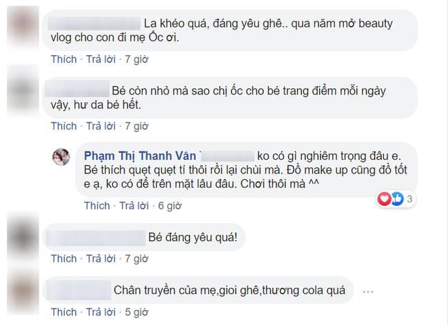Bị nhắc nhở khi cho con gái 6 tuổi trang điểm mỗi ngày, Ốc Thanh Vân trả lời một câu khiến mọi người câm nín-5