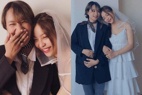 Hậu chia tay Quang Hải, Nhật Lê khoe ảnh áo cưới làm cô dâu, nhưng danh tính chú rể mới gây bất ngờ-3