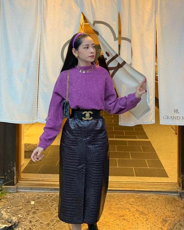 Hết Yoona rồi đến Hà Tăng diện chân váy da, bạn sao có thể kìm lòng trước item sang chảnh hào nhoáng này?-3