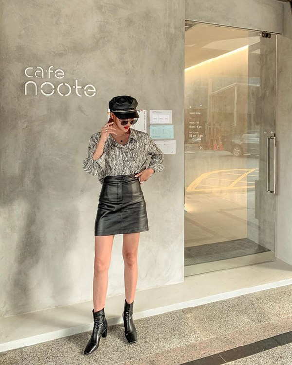 Hết Yoona rồi đến Hà Tăng diện chân váy da, bạn sao có thể kìm lòng trước item sang chảnh hào nhoáng này?-12