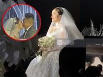 Đám cưới Bảo Thy: Cô dâu diện váy trắng cùng chú rể tiến vào lễ đường, trao nhau nụ hôn ngọt ngào