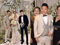 Đâu chỉ riêng Ông Cao Thắng, chồng Bảo Thy cũng đi giày độn gần 10 cm để xứng tầm bên cô dâu trong lễ cưới