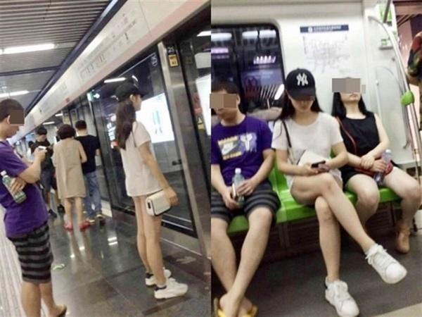 Đi tàu điện ngầm mặc váy cũn cỡn, cô gái trẻ khiến mọi người đứng hình khi quên diện luôn nội y, dân mạng bày tỏ ý kiến trái chiều-1