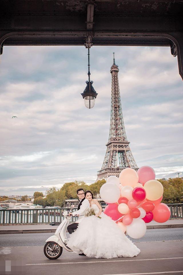 Ảnh cưới của BTV Thu Hà và bạn trai ở Pháp-3