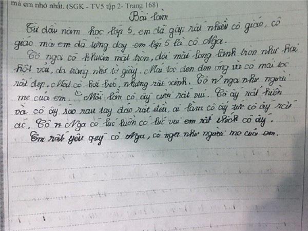 Điểm lại những bài văn tả cô giáo ngây ngô, khiến dân mạng cười chảy nước mắt của học sinh tiểu học-1