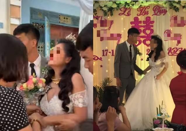 Cô dâu có biểu cảm kì lạ trong ngày cưới đang được MXH thi nhau đồn đoán nhưng thái độ xử lý tình huống của chú rể mới đáng nói-2