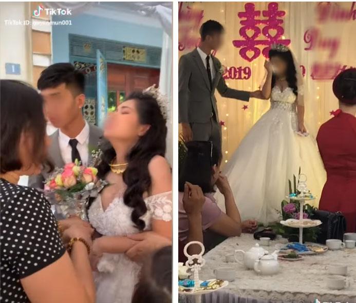 Cô dâu có biểu cảm kì lạ trong ngày cưới đang được MXH thi nhau đồn đoán nhưng thái độ xử lý tình huống của chú rể mới đáng nói-1