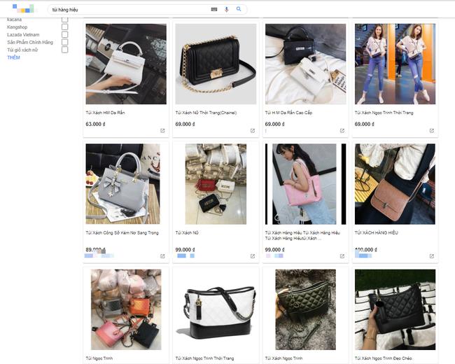 Vô vàn hàng hiệu từ túi xách đến nước hoa với giá từ vài chục tới vài trăm nghìn đồng đang được bán tràn lan trên mạng-2