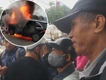 Nhân chứng vụ Mercedes kéo nhiều xe máy dưới gầm bốc cháy làm 1 người tử vong: Nữ tài xế mắc kẹt được cứu sống kịp thời