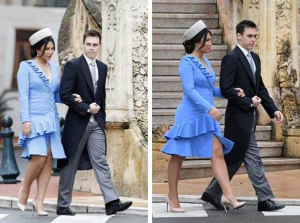 Nàng dâu hoàng gia gốc Việt lần đầu xuất hiện cùng gia đình nhà chồng Monaco: Ăn mặc gợi cảm nhưng có phần lạc lõng-3