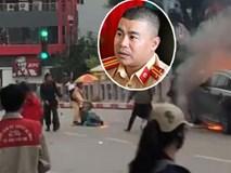 Gặp chiến sỹ CSGT cứu người mắc kẹt thoát khỏi đám cháy vụ xe ô tô Mercedes: