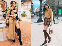 4 công thức mix đồ với boots cao ngang gối sành điệu không thể bỏ lỡ cho mùa Đông năm nay