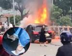 Tông vào ôtô mở cửa vì chạy xe trên vỉa hè-1
