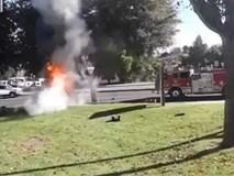 Người phụ nữ gây hoang mang dư luận khi khỏa thân lái xe gây tai nạn rồi bỏ mặc 2 con trong biển lửa, trốn khỏi hiện trường