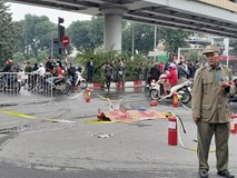 Vụ xe Mercedes gây tai nạn rồi bốc cháy: Đã xác định danh tính nữ nạn nhân tử vong