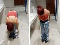 Nữ tặc mặc 8 chiếc quần jean vừa trộm được rồi tìm cách trốn thoát, nhìn kĩ năng hành nghề ai cũng há hốc mồm