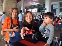 Trọn vẹn hành trình từ Nhật về Việt Nam của mẹ con Quỳnh Trần JP: Vô tình gặp cả người hâm mộ ở sân bay khiến Sa vô cùng ngại ngùng
