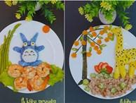 'Hô biến' đĩa cơm thành vườn thú muôn màu, mẹ 9X khiến con hào hứng chờ đến bữa