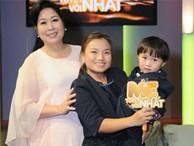 Hình ảnh chính thức của Quỳnh Trần JP và bé Sa trong talkshow do NSND Hồng Vân làm MC