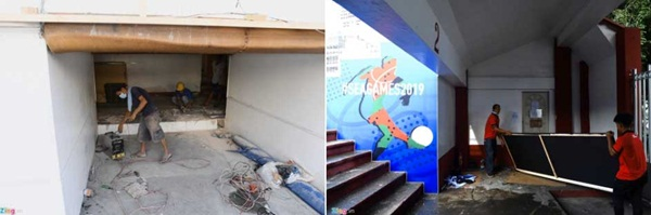 Sân bóng đá SEA Games 30 ngổn ngang trước ngày thi đấu-3