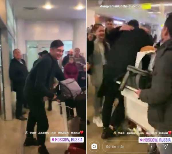 Văn Lâm ôm chầm mẹ tại sân bay Nga sau hai năm xa nhà-1
