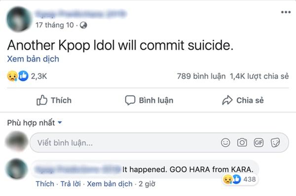 Rùng mình lời tiên tri chuẩn xác về việc Goo Hara qua đời của một tài khoản facebook, đã từng tiên đoán cả sự ra đi của Sulli-3