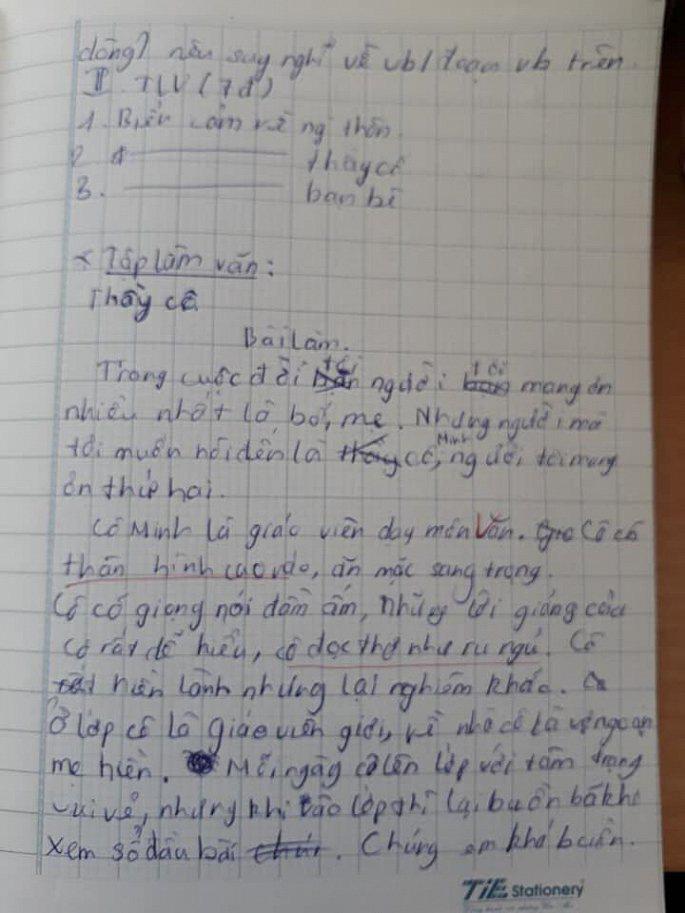 Bài văn biểu cảm về cô giáo khiến người đọc cười ra nước mắt-1